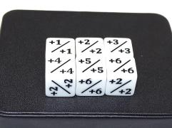d6 Counter Dice - White (6)