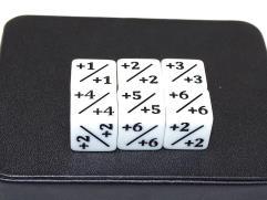 d6 Counter Dice - White (6)