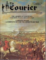 """Vol. 7, #4 """"The Armies at Fontenoy, Campaign Rules for the Seven Years War"""""""