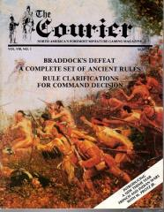 """Vol. 8, #1 """"Braddock's Defeat, A Complete Set of Ancient Rules"""""""