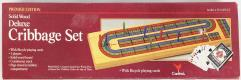 Cribbage Set - Solid Wood, Deluxe