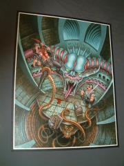 "TSR Greyhawk - Crypt of Lyzandred the Mad - 18"" x 23"" Original Painting"