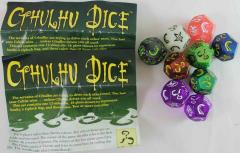 Cthulhu Dice Collection - 9 Dice & 2 Rulebooks