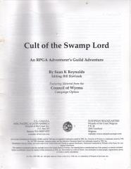Series #7 - Council of Wyrms, Cult of the Swamp Lord