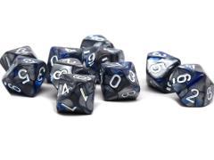 d10 Blue and Silver Granite w/White (10)