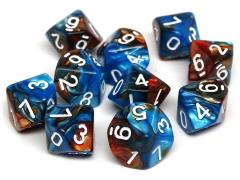 d10 Cobalt and Copper Granite w/White (10)