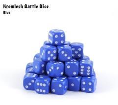 d6 Blue w/White (35)