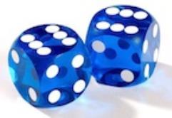 12.5mm Precision Backgammon - Dark Blue w/White (2)