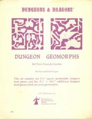 Dungeon Geomorphs Set #2 - Caves and Caverns (2nd Printing)