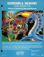 Player Character Record Sheets (Pastel Blue Cover)