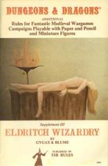 Supplement #3 - Eldritch Wizardry