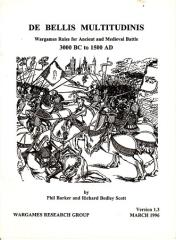 De Bellis Multitudinus - Wargames Rules for Ancient and Medieval Battles 3000BC - 1500AD (Version 1.3)
