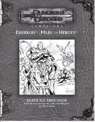 Mark of Heroes RPGA - Desolate Endeavor