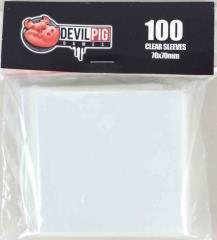70mm x 70mm Clear Card Sleeves (100)