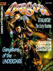 "#228 ""Random Campaign Generator, Gangsters of the Underdark"""