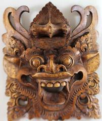 Hand-Carved Wooden Dragon Mask
