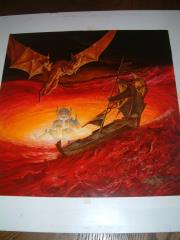 "TSR Dragonlance - Dragons of Faith - 19"" x 19"" Original Art"