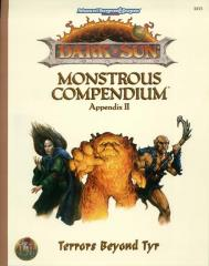Monstrous Compendium Dark Sun Appendix #2 - Terrors Beyond Tyr