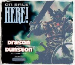 Dragon and Dungeon Magazine Window Cling