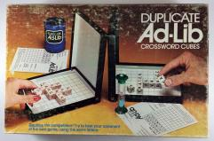Duplicate Ad-Lib Crossword Cubes