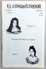 """Vol. 1, #5 """"William and Mary of Orange, Romanticism and Social Reconstruction"""""""