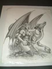 "Loyal Companion - 13"" x 16"" Original Pencil"