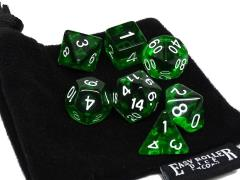 Emerald Green Translucent w/White (7)
