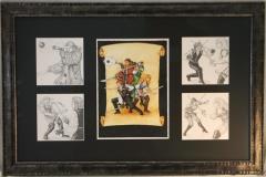 En Garde Original Art Arrangement - 5 Pieces in 1 Frame!