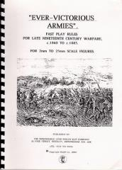 Ever-Victorious Armies - Fast-Play Rules for 19th Century Wargames, 1790-1885 (1st Edition)