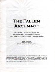 Series #2 - Forgotten Realms, The Fallen Archmage