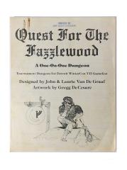 Quest for the Fazzlewood (Single-Sided, Paper Cover Version)