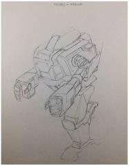 Battletech Unused Concept Art - Fenris/Ice Ferret