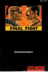 Final Fight Instruction Manual