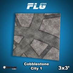 3' x 3' - Cobblestone City #1