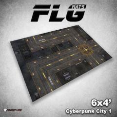6' x 4' - Cyberpunk City #1