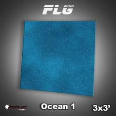 3' x 3' - Ocean #1