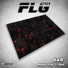6' x 4' - Robot City #1, Red
