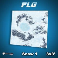 3' x 3' - Snow #1