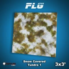 3' x 3' - Snow Covered Tundra #1