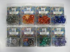 Full Poly Set Translucent Lot - Eight 10 Piece Sets!