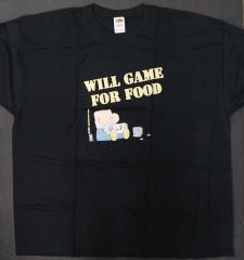 'Will Game for Food' T-Shirt (XXXL)