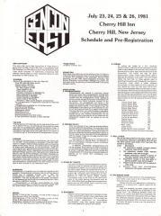 1981 Gen Con Pre-Registration Flyer