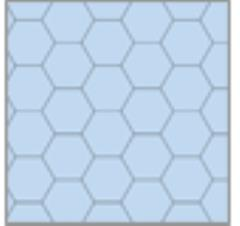 "8.5"" x 11"" Reversible Graph Paper - Blue (1"" Hexes)"