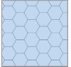 """8.5"""" x 11"""" Reversible Graph Paper - Blue (1"""" Hexes)"""