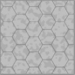 "8.5"" x 11"" Reversible Graph Paper - Cobblestone (1"" Hexes)"