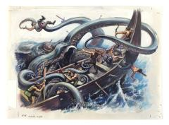Giant Squid - D&D 2nd Edition Dungeon Master's Guide Revised Interior Art