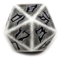 48mm d20 - Giant Dice of the Glaciers w/Black