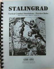 Stalingrad - Tactical Combat Simulations, 28mm WWII Combat (Preview Edition)