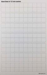 "Blank Counter Sheet 1/2"" (White)"