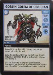 Promo Card - Goblin Golem of Obsidian
